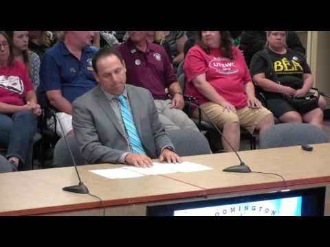 Bloomington Public Schools - School Board Meeting - September 12, 2016