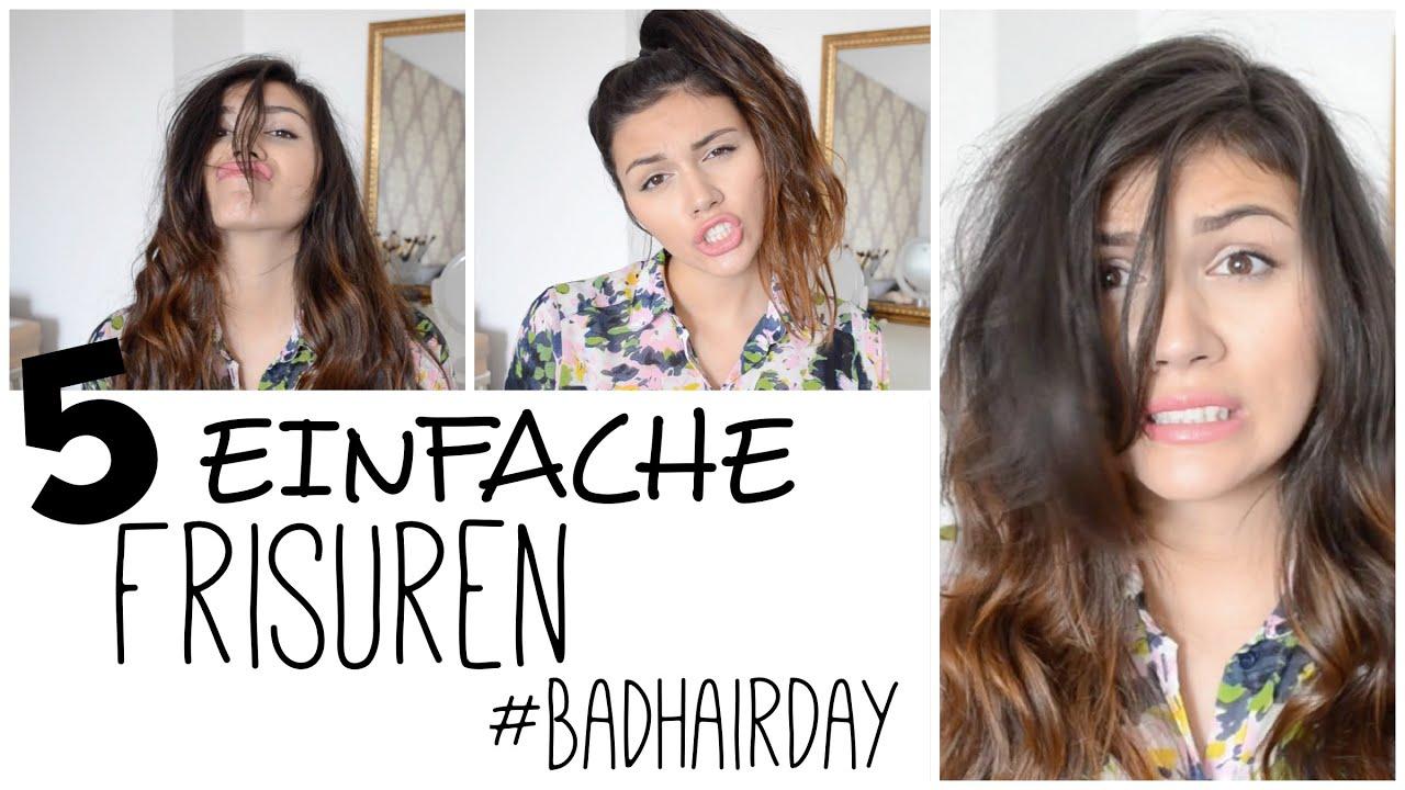 5 EINFACHE Und SCHNELLE Frisuren Für Einen BAD HAIR DAY! YouTube