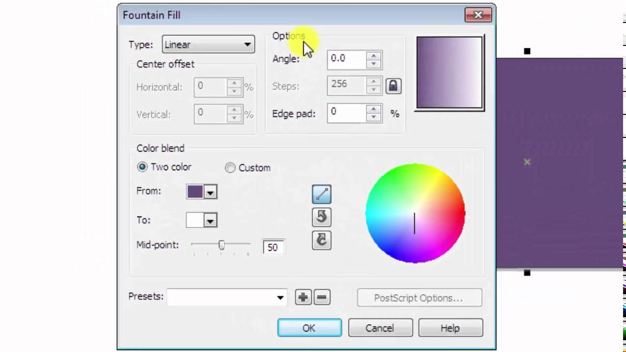 cara mengganti warna background pada corel draw X5
