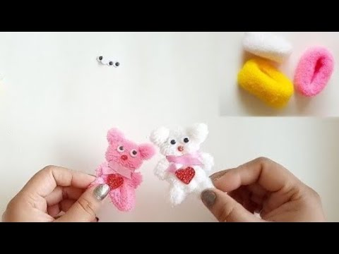 रबर बैंड टैडी | How To Make Teddy Bear From Hairband | Best Out Waste | Easy Craft Idea