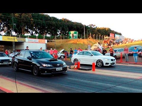 Stock Subaru WRX vs Golf GTI APR Stage 2 vs BMW M235i - DRAG RACE