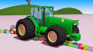 Vids For Kids In 3d (hd) - Tractor John Deere For Children And Cubes Cartoon, Fun And Play - Aapv
