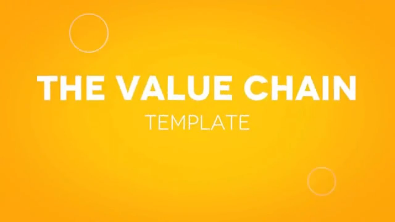 Value Chain Analysis Template (Excel & PowerPoint) - YouTube