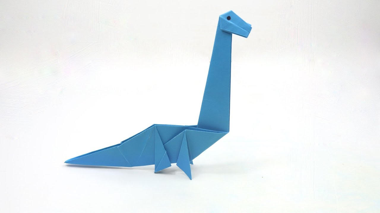 How To Make an Easy Origami Dinosaur - YouTube | 720x1280