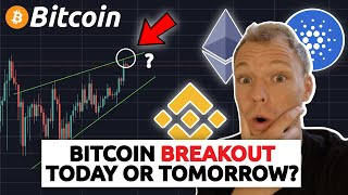 BITCOIN BREAKOUT TODAY OR TOMORROW ?!?!? BNB UP MORE THAN 50%!! CARDANO BREAKOUT ?!?!