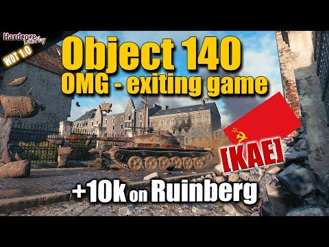 WOT: Object 140, exciting heart attack game on Ruinberg, WORLD OF TANKS thumbnail