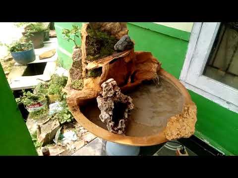 Miniatur air terjun batu napal