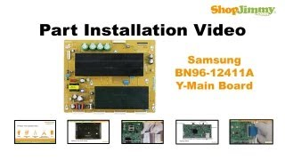 samsung plasma tv with no picture repair y main board buffer board replacement tutorial