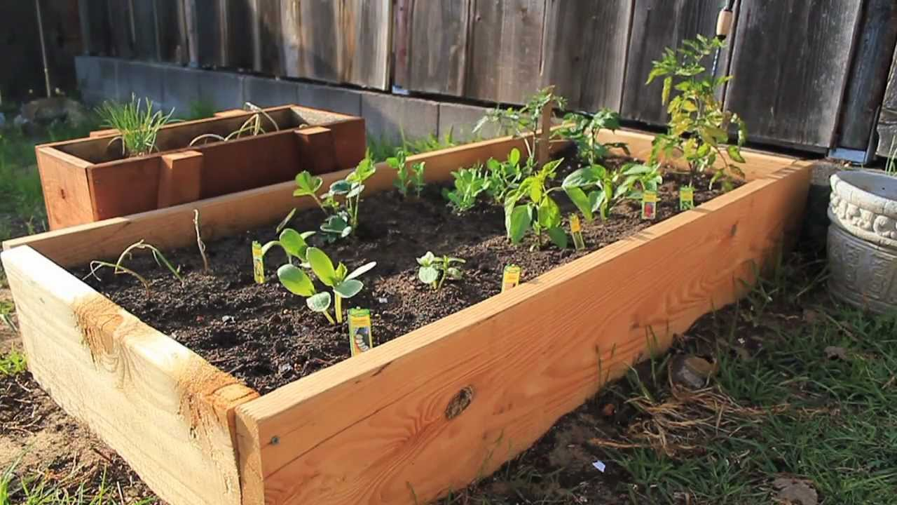 fence against watch youtube bed a raised garden beds build diy