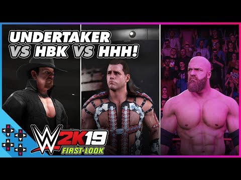 WWE 2K19: SHAWN MICHAELS vs. TRIPLE H vs. THE UNDERTAKER - Dream Match Simulation