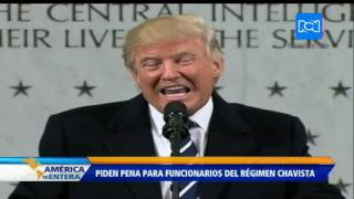 Legisladores de EE.UU. piden a Trump imponer sanciones a representantes del gobierno venezolano