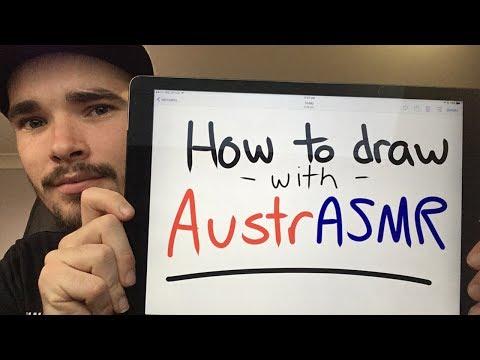 ASMR - Drawing Tutorial - Soft Spoken, Australian Accent, Teacher