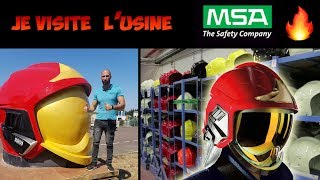 Visite usine MSA GALLET  fabrication casque POMPIER