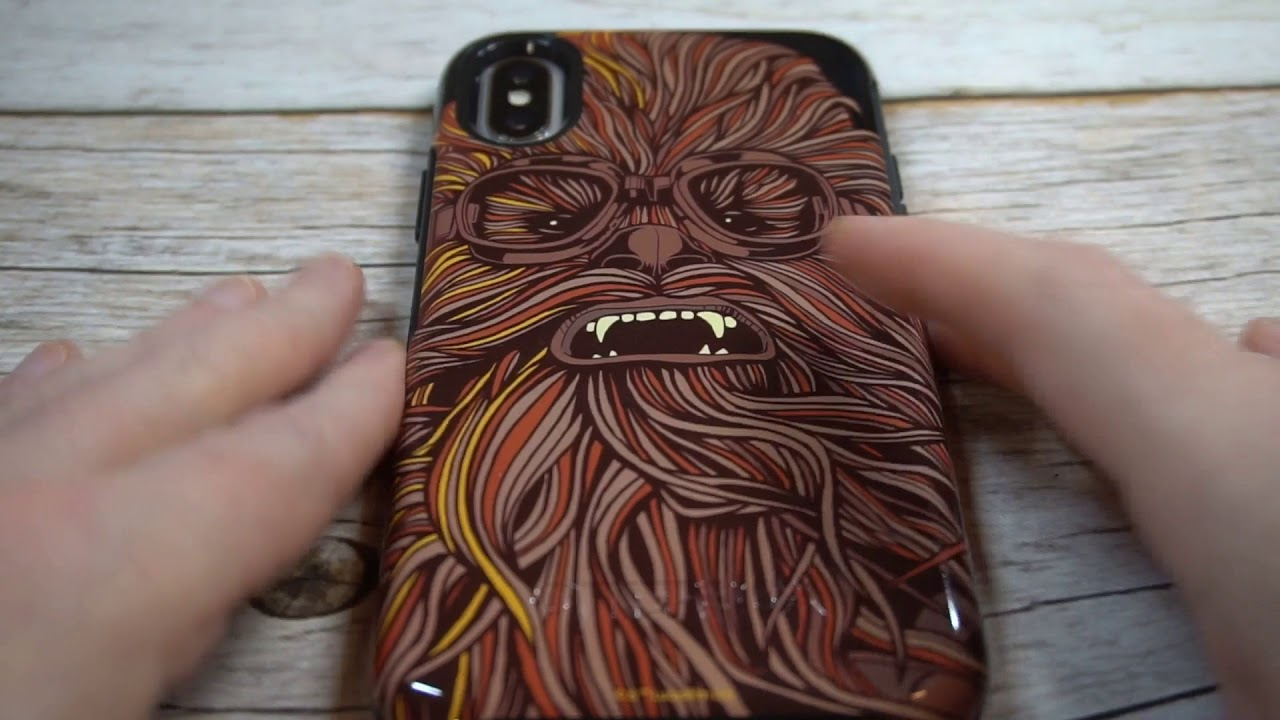 lowest price 0aba5 8b62d Otterbox Symmetry Series Chewbacca Case For iPhone X Unboxing and Review