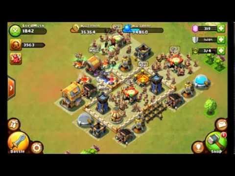 Castle Clash - Best Defense For Town Hall Level 6!!