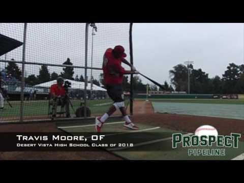 Travis Moore, OF, Desert Vista High School, Swing Mechanics at 200 FPS