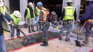 Concrete Sidewalk Pour @ymca 2014