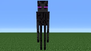 Minecraft Tutorial: How To Make An Enderman Statue