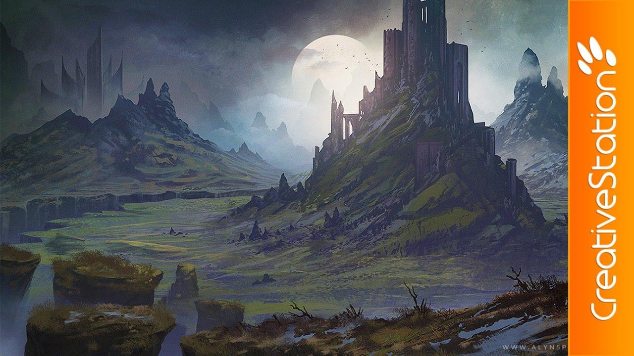 Fantasy Landscape Rift Speed Painting Photoshop