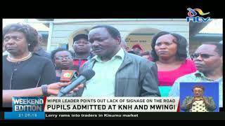 Kalonzo and Ngilu visit Mwingi accident victims at KNH