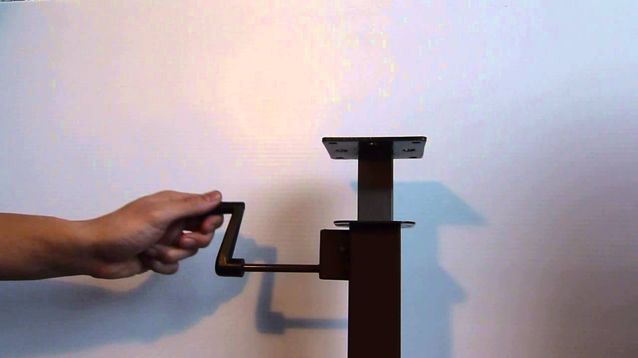 Table Lift with CRANKmechanism for heightadjustable