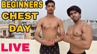 BEGINNERS CHEST WORKOUT AT HOME| LIVE STREAM