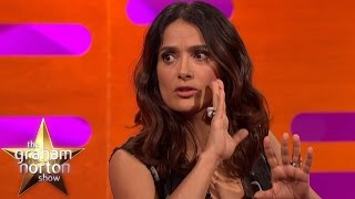 salma hayek cant believe the weird tattoo danny trejo has the graham norton show
