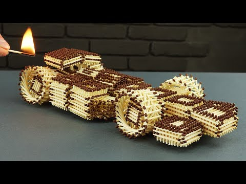 How to Make Amazing F1 Racing Car from Matches Without Glue