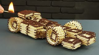 How to Make Amazing F1 Racing Car from Matches Without Glue thumbnail