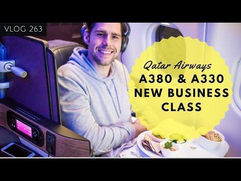 QATAR AIRWAYS A380 & A330 NEW QATAR AIRWAYS BUSINESS CLASS REVIEW - QATAR BUSINESS CLASS TRAVEL VLOG