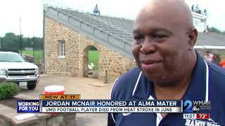 UMD player Jordan McNair honored at McDonogh