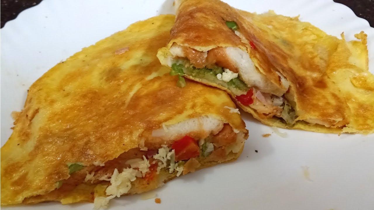 Bread Omelette Sandwich Street food style   Bachelor ...