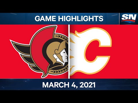 NHL Game Highlights | Senators vs. Flames - Mar. 4, 2021