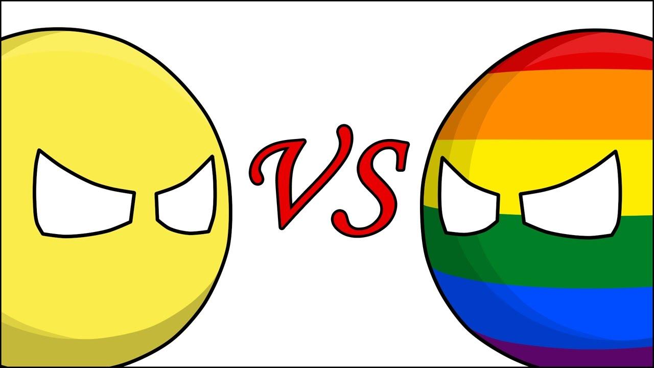 Либерал VS Либераст ( Countryballs )