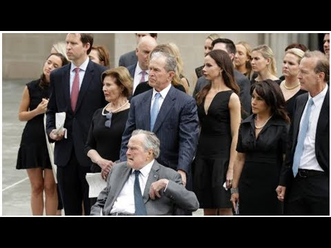 Matriarch of Bush family honoured by friends and family at private funeral