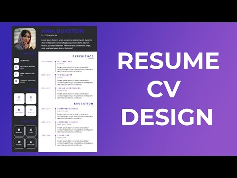 How To Create Resume CV Website Using HTML And CSS || Resume Design || CV Design