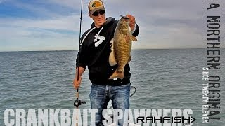 Crankbait fishing for Smallmouth Bass - Spring Time Lake Erie