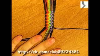 #7 by AkVaReLь Ю) Фенечка косым плетением