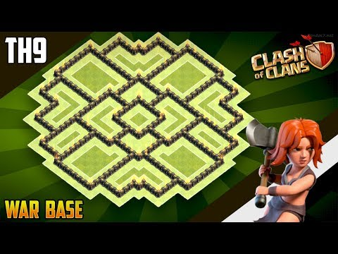 New EPIC TH9 WAR/TROPHY[defense] Base 2018!! COC Town Hall 9 War Base Design - Clash Of Clans