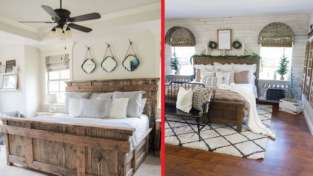 Farmhouse Bedroom Decor Ideas: Rustic Farmhouse Bedroom Decorating 2019 Ideas