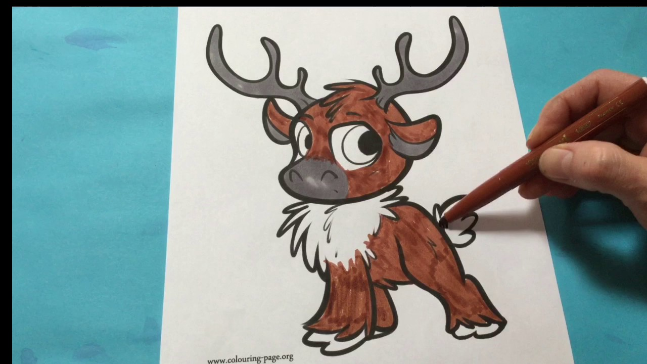 Lets Color Baby Sven Disney Frozen Coloring Book Sven Coloring - Frozen-sven-coloring-pages