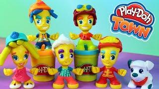 Play Doh Town • Moja kolekcja figurek • Fryzury dla pań i panów • Kreatywne zabawy