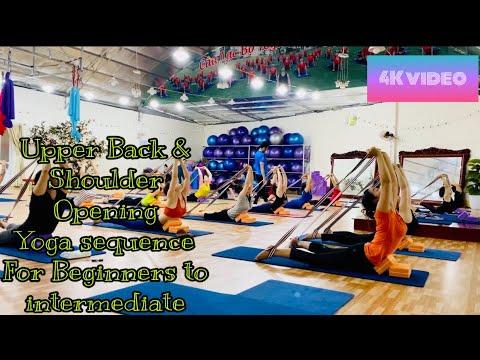 upperbackshoulder opening yoga sequence for beginners to