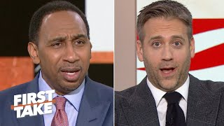 'I think you're reaching!' - Stephen A. and Max Kellerman debate Tom Brady | First Take
