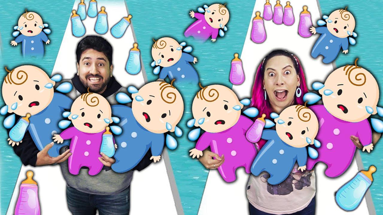 A INCRÍVEL CORRIDA DA FAMÍLIA CHEIA DE BEBÊS no Family Run