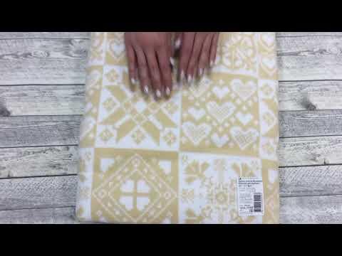 Одеяло байковое Бежевое Уют Ермолино, жаккард, 150х215