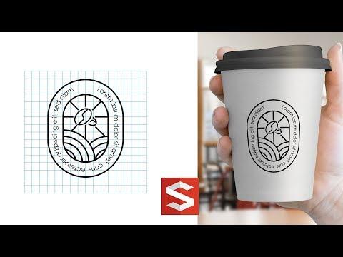 illustrator Tutorial Coffee Logo Design   Sopheap Design