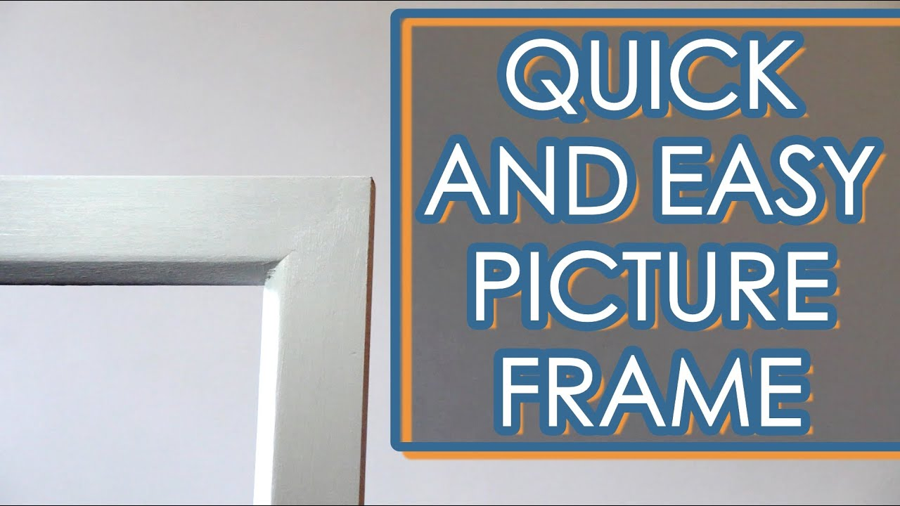 Make a picture frame with limited tools youtube make a picture frame with limited tools jeuxipadfo Image collections