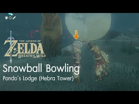 Zelda: Snowball Bowling (mini game)