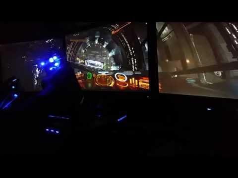 Elite Dangerous : Triple Screen Setup With Saitek X52
